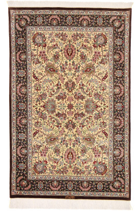 Qum Silk signed: Iran Qum Foruzan 98X152
